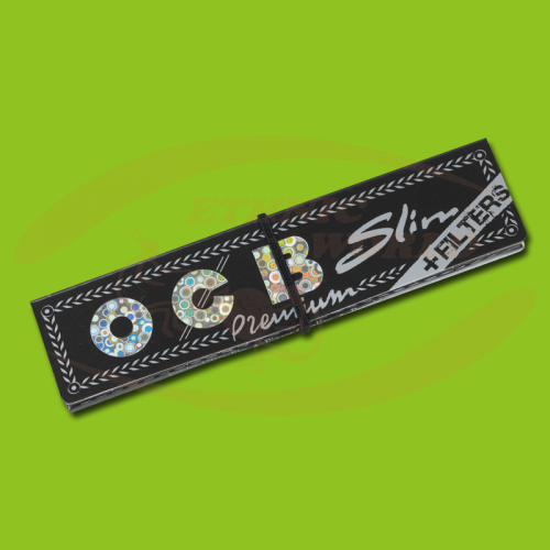 OCB Premium Slim +Filter (Black, Long, Filter)