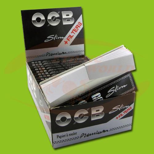 OCB Premium Slim +Filter (Black, Long, Filter)