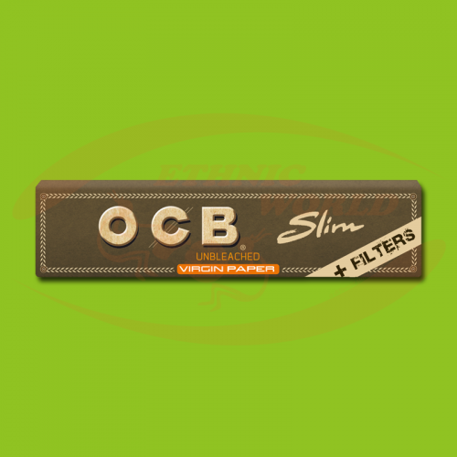 OCB Virgin Slim +Filter (Brown, Long, Filter)