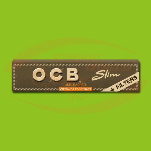 OCB Virgin Slim +Filter (Brown, Long, Filter)