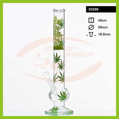 Glass Bong Leaf Jhari (02599)