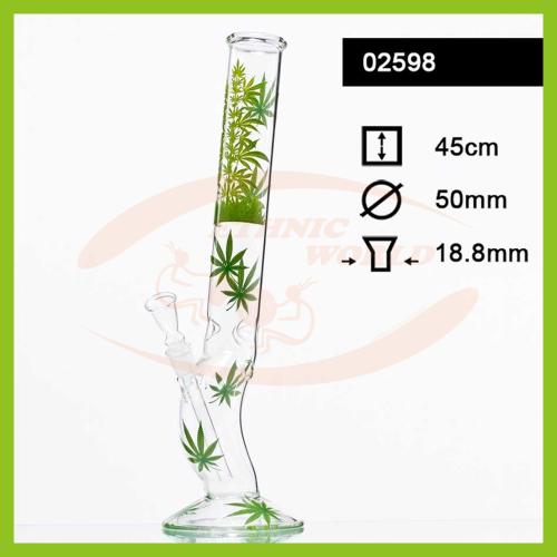Glass Bong Leaf Jhari (02598)