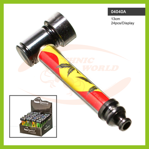 Metal Rasta Leaf Pipe (13 cm)