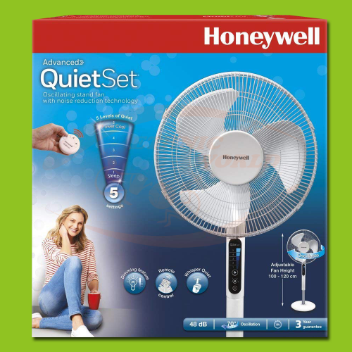 Honeywell QuietSet Stand Fan 40 cm