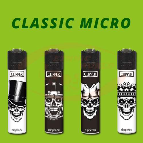 Clipper MICRO - Briquet Scary Skulls 2