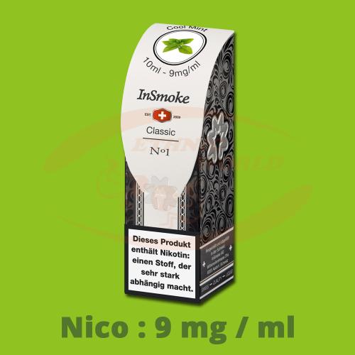 InSmoke Liquid 10 ml - 9mg - Cool Mint