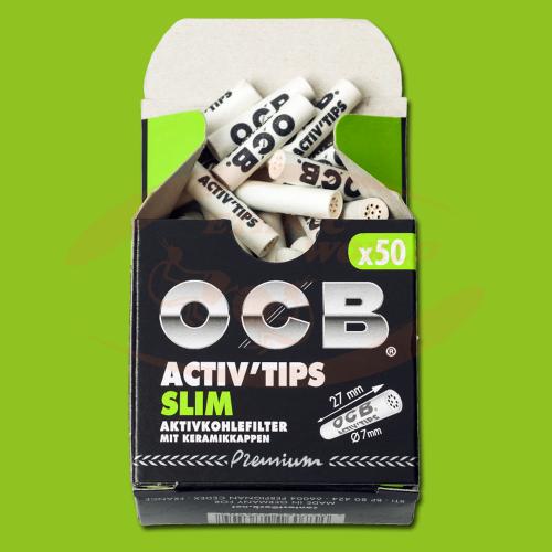 OCB Premium Activ Tips Slim (50 pc)