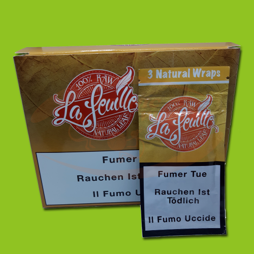 La Feuille Natural Blunt Wraps (3 Blunts)