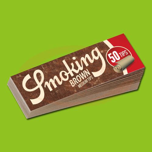 Smoking Filter Tips Brown Medium