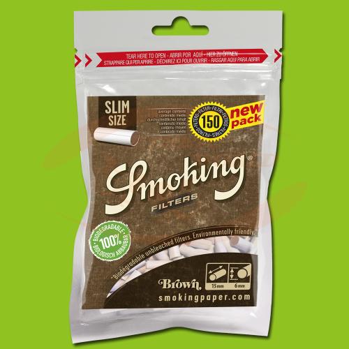 Smoking Filters Brown Bio Slim (150)