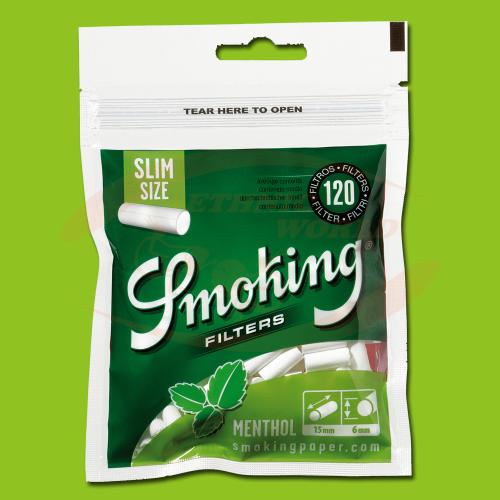 Smoking Filters Menthol Slim (120)