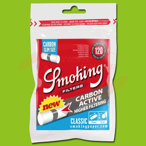 Smoking Filters Slim Carbon (120)