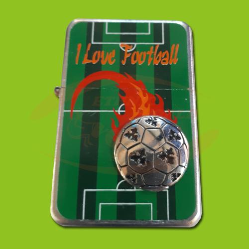 Petrol Lighter I Love Football