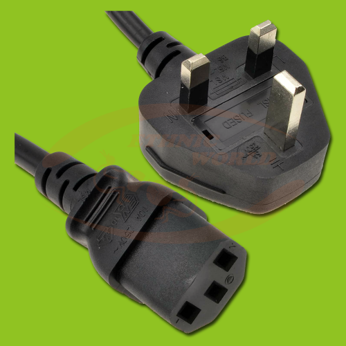 Power Cable with UK Plug (M) - IEC (F)
