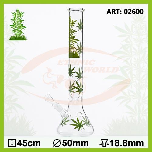 Glass Bong Leaf Jhari Beaker (02600)