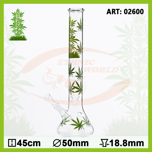 Glass Bong Leaf Jhari Beaker (02600)