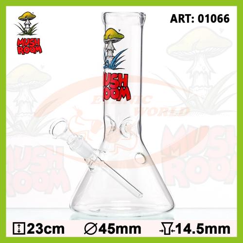 Glass Bong Mushroom Beaker (01066)