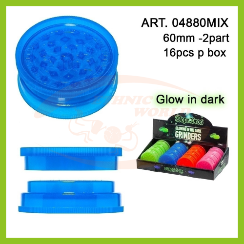 Grinder Plastic 60mm - DISPLAY (16pc)