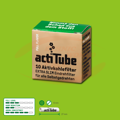 ActiTube 6mm EXTRA SLIM Filter ( 10)