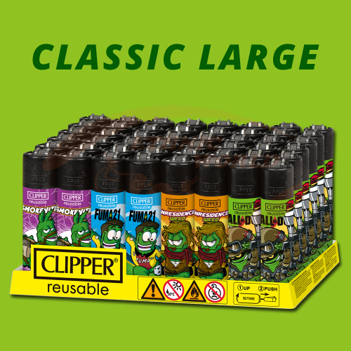 Clipper - Feuerzeug Players Weed
