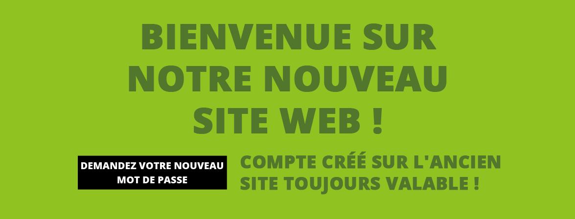 Bienvenue sur notre nouveau site web !