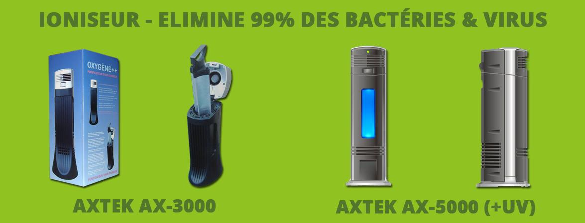Ioniseur - Elimine 99% bactéries & virus